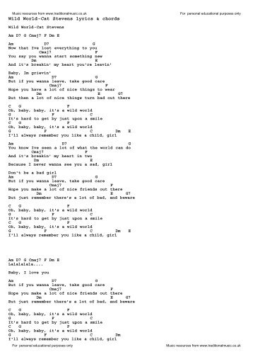 Can This Be Love Cat Stevens Lyrics Chords Traditional Music