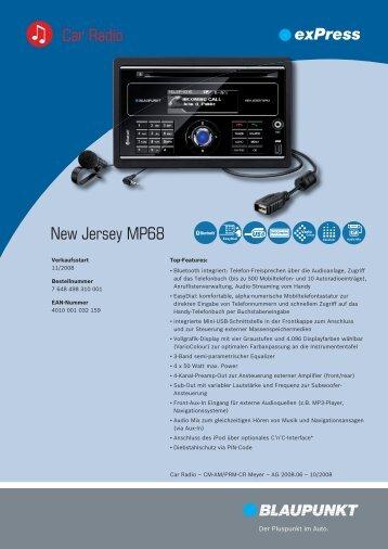 New Jersey MP68 Car Radio