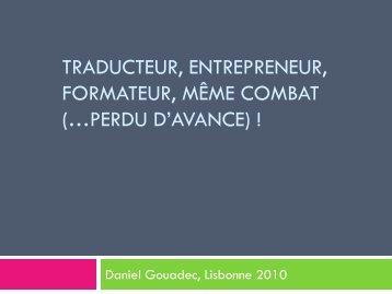 traducteur, entrepreneur, formateur, même combat - Tradulex