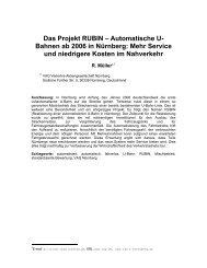 Das Projekt RUBIN – Automatische U- Bahnen ab 2006 in Nürnberg ...