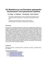 Die Modellierung und Simulation gekoppelter mechanischer und ...