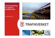 Automatkodning av regional kollektivtrafik - Trafikanalysforum.se