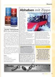 Abheben mit Zippo - Trafikantenzeitung