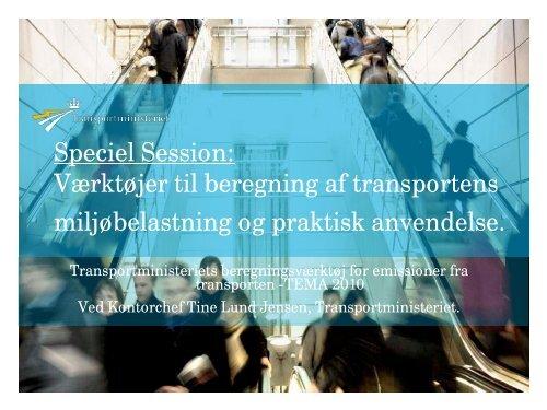 Tine Lund Jensen, Transportministeriet - Trafikdage.dk