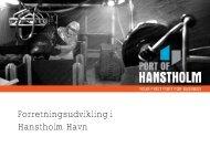 Forretningsudvikling i Hanstholm Havn - Trafikdage.dk
