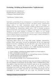 Forskning, Udvikling og Demonstration i Vejdirektoratet - Trafikdage.dk