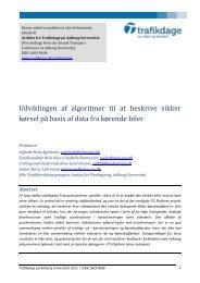 Udviklingen af algoritmer til at beskrive sikker kørsel ... - Trafikdage.dk