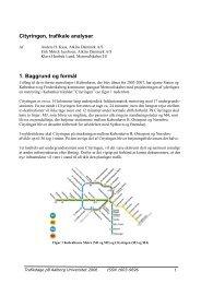 Metro Cityringen, trafikale analyse - Trafikdage.dk