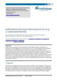 Luftkvalitetsvurdering af alternativerne for en ny 3 ... - Trafikdage.dk