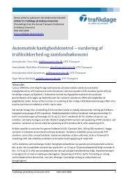 Automatisk hastighedskontrol – vurdering af ... - Trafikdage.dk