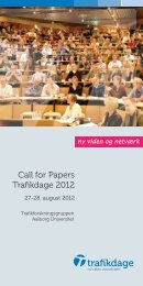 Call for Papers Trafikdage 2012 - Trafikdage.dk