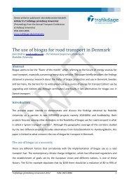The use of biogas for road transport in Denmark - Trafikdage.dk