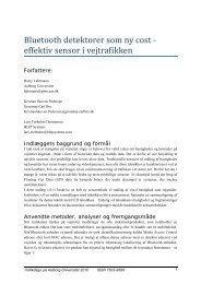 Bluetooth detektorer som ny cost ‐ effektiv sensor i ... - Trafikdage.dk