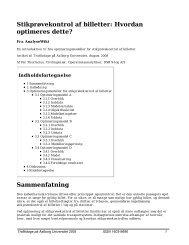 Stikprøvekontrol af billetter: Hvordan optimeres dette ... - Trafikdage.dk