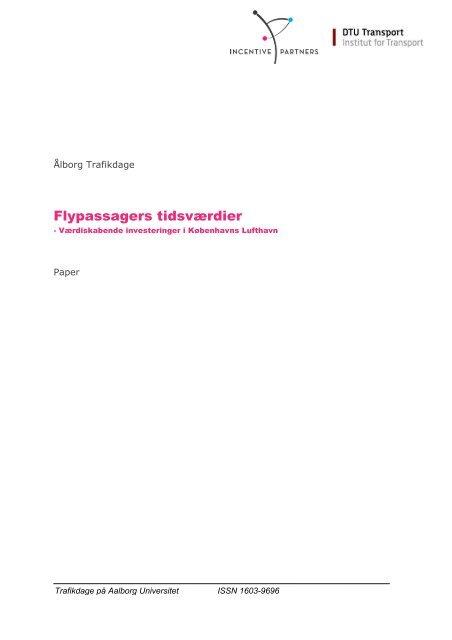 Flypassagers tidsværdier - Trafikdage.dk