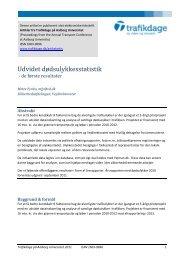 De første resultater af udvidet dødsulykkesstatistik - Trafikdage.dk