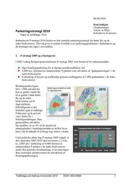 Parkeringsstrategi 2010 for København - Trafikdage.dk