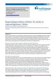 Regionaltågstrafikens effekter: En studie av ... - Trafikdage.dk