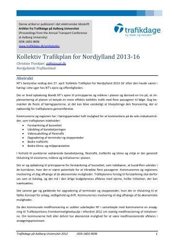 Kollektiv Trafikplan for Nordjylland 2013-16 - Trafikdage.dk
