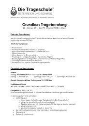 Grundkurs Trageberatung - Trageschule