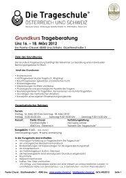 Grundkurs Trageberatung Linz 16. – 18. März 2012 - Trageschule