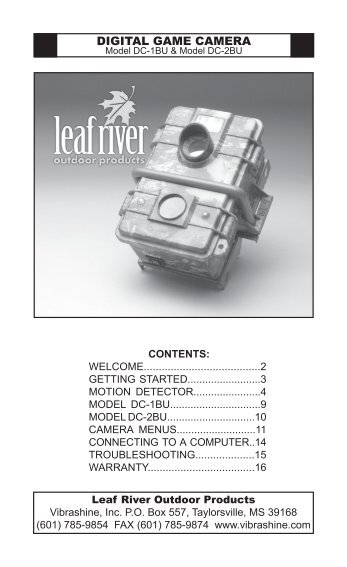 Leaf River IR-3BU Manuals