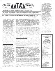 TRAIL TIMES - American Trail Running Association