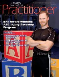 Health Promotion Practioner Article - Trainingdimensions