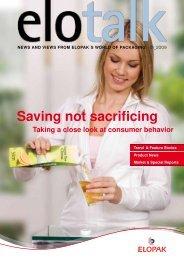 saving not sacrificing - Elopak