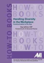 Handling Diversity in the Workplace: - TRAINING SOLUTIONS Inc.