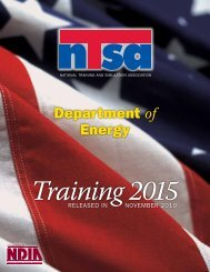 Department of Energy - National Training and Simulation Association
