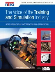 The Voice of theTraining and Simulation Industry - National Training ...