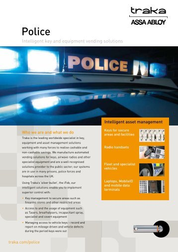 Police - Key and asset management - Traka