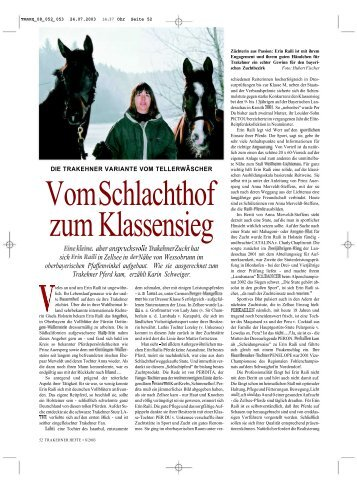 Erin Raili - Trakehner in Bayern