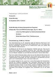 Presseinfo des Badischen Rennvereins, 24.09.2010 - Trakehner ...