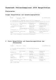 Ergebnisse des Tarmstedter Fohlenchampionats und ...