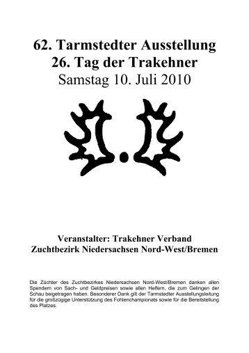 Katalog Fohlenchampionat 2010 als pdf herunterladen - Trakehner ...