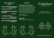 Flyer - Trakehner in Bayern