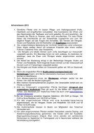 Informationen zur Vorauswahlreise - Trakehner Verband