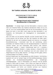 Vierbeinige Promis beim Trakehner Bundesturnier in Hannover
