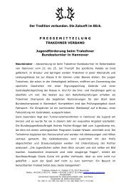 Jugendförderung beim Trakehner Bundesturnier in Hannover
