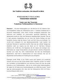 Tudor war der Teuerste - Trakehner Fohlenauktion in Hannover