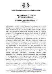 Häwelmann - Trakehner Verband