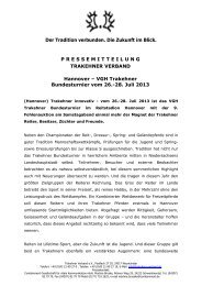 Hannover – VGH Trakehner Bundesturnier vom 26.-28. Juli 2013