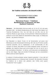 Trakehner Bundesturnier in Hannover mit dem Gastland Frankreich