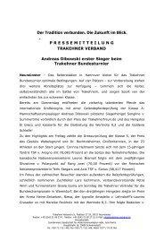 Andreas Diboswki erster Sieger beim Trakehner Bundesturnier