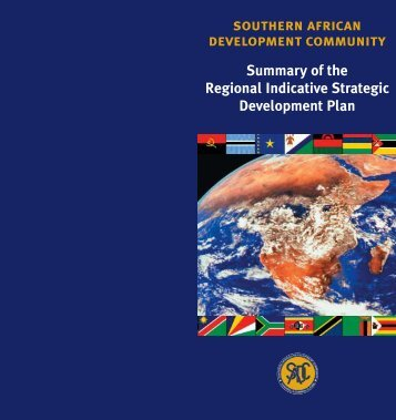 SADC RISDP summary - Southern African Development Community