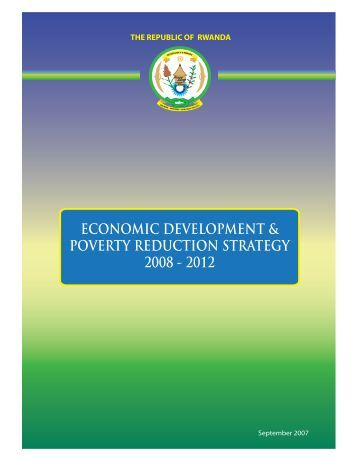economic development & poverty reduction strategy 2008