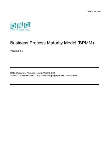 Business Process Maturity Model, BPMM 1.0 - CSP AG
