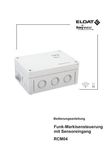 Funk-Markisensteuerung mit Sensoreingang RCM04 - ELDAT